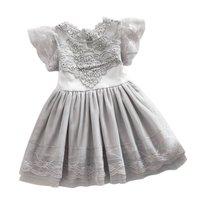 Summer Toddler Girls Baby Kids Lace Tulle Dress Floral Princess Tutu Dress 2 7Y
