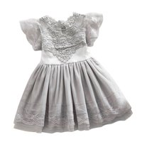 2016 Summer Toddler Girls Baby Kids Lace Tulle Dress Floral Princess Tutu Dress