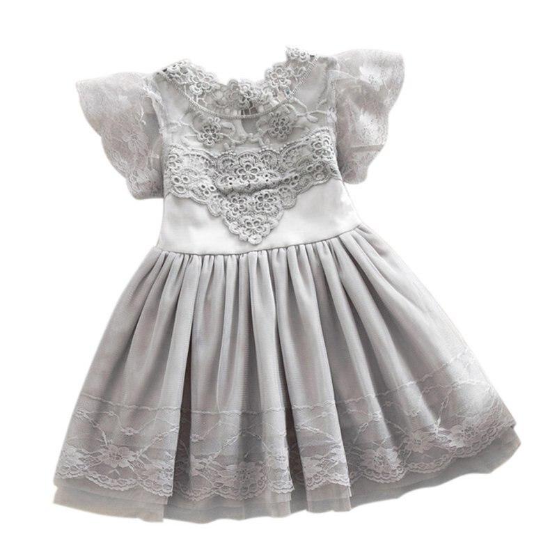 Floral Prinzessin Kleid Für Mädchen Abendkleid Sommer Baby Mädchen Kleider Kleinkind Spitze Tüll Mädchen Kleider Kleidung 2-7 jahre