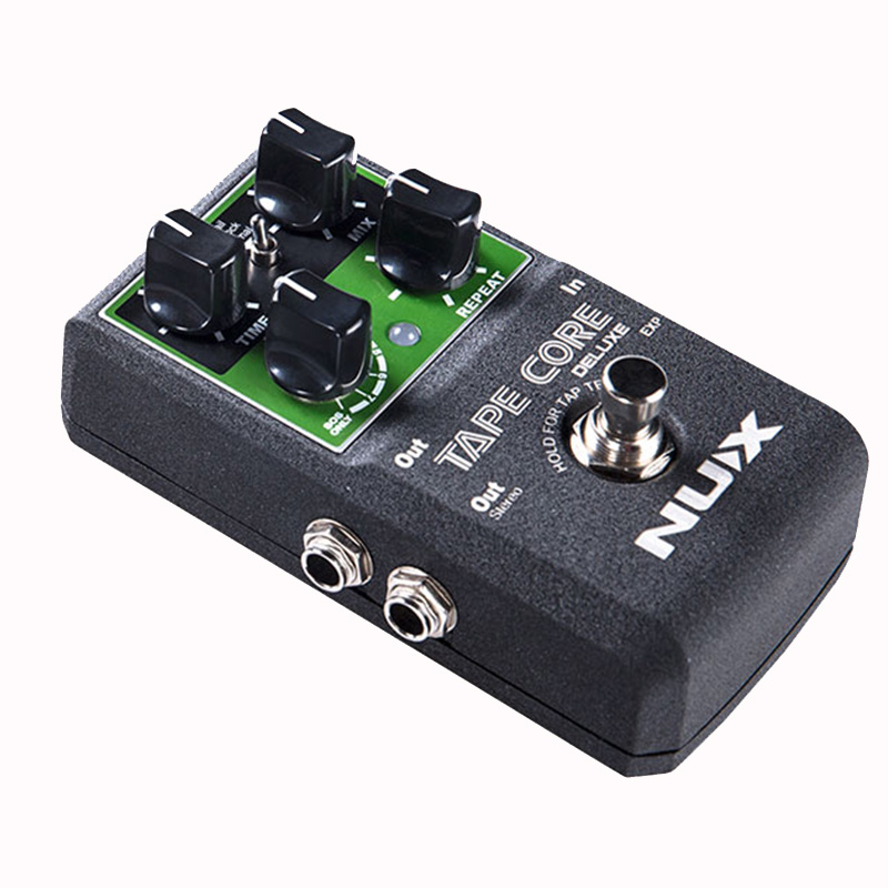 NUX Tape Core Deluxe Echo Guitar Effect Pedal Use For Guitar Bass - Lightwish Pedal With True Bypass mooer ensemble queen bass chorus effect pedal mini guitar effects true bypass with free connector and footswitch topper