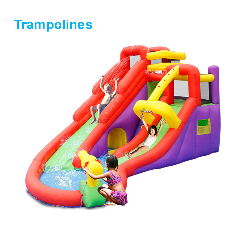 5601  PVC Bounce house inflatable trampoline jumping bouncy castle bouncer jumper with climbing indood playground for kids residential bounce house inflatable castle jumper bouncy castle with slide for kids free shipping