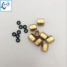 20 Pcs/lot Printer Format Besar DX4 DX5 Kepala Damper 3*2 Mm Tabung Tinta Tembaga Konektor Tinta Damper Nut sekrup dengan O Ring(China)
