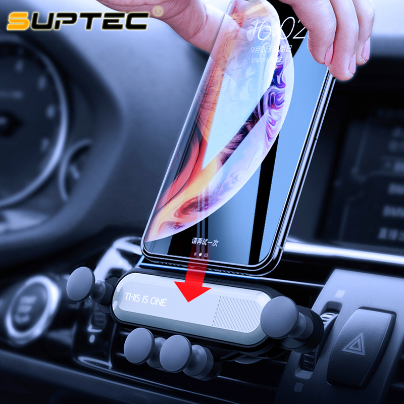 SUPTEC Gravity Holder For Phone In Car Air Vent Mount Support Mobile Phone Holder Stand Cradle For IPhone XS X Samsung S9 Xiaomi