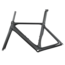 2019 czarny matowy aero wyścigi drogowe rama rowerowa wysokość moduł toray t700 z włókna węglowego BB86 droga rowerowa rama fm268 tanie tanio SERAPH CARBON 1250G Matte Road Bicycles