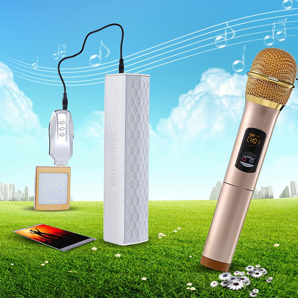 K18U 10 Channel Wireless Handheld Double Microphones Professional Bluetooth UHF Lightweight Microphones Set With Receptor J3 микрофон blue microphones yeti usb