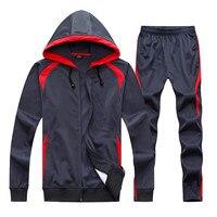 2017 Winter Boys Soccer Survetement Football Suits Jerseys Sets Kids Futbol Pants Hooded Jackets Sports Leggings