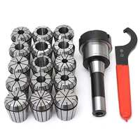 15Pcs/set ER40 Spring Collet High Precisions Collet Set With R8 Shank ER40 Chuck for CNC Engraving Machine Milling Lathe Tool