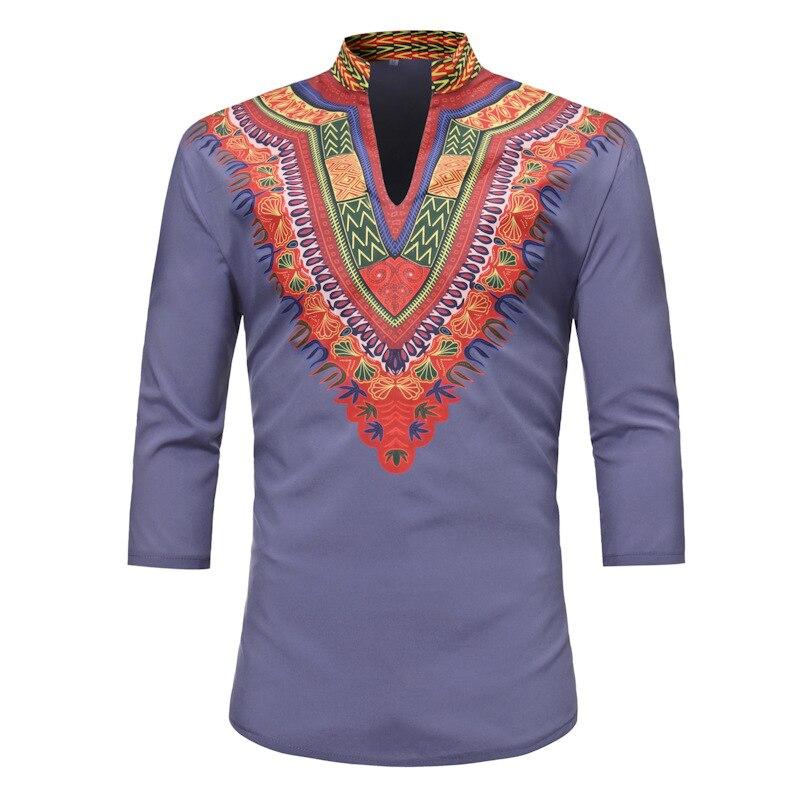 New African clothing African Dashiki Traditional Dashiki Maxi Man Long Sleeve Summer Men Clothing Shirt