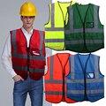 Multicolor Hi-Vis Safety Vest Reflective Jacket Security Waistcoat 5 Pockets