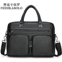 FEIDIKABOLO Brand Designer Male Handbags Briefcase High Quality Leather Men S Messenger Bags Men Crossbody Bags