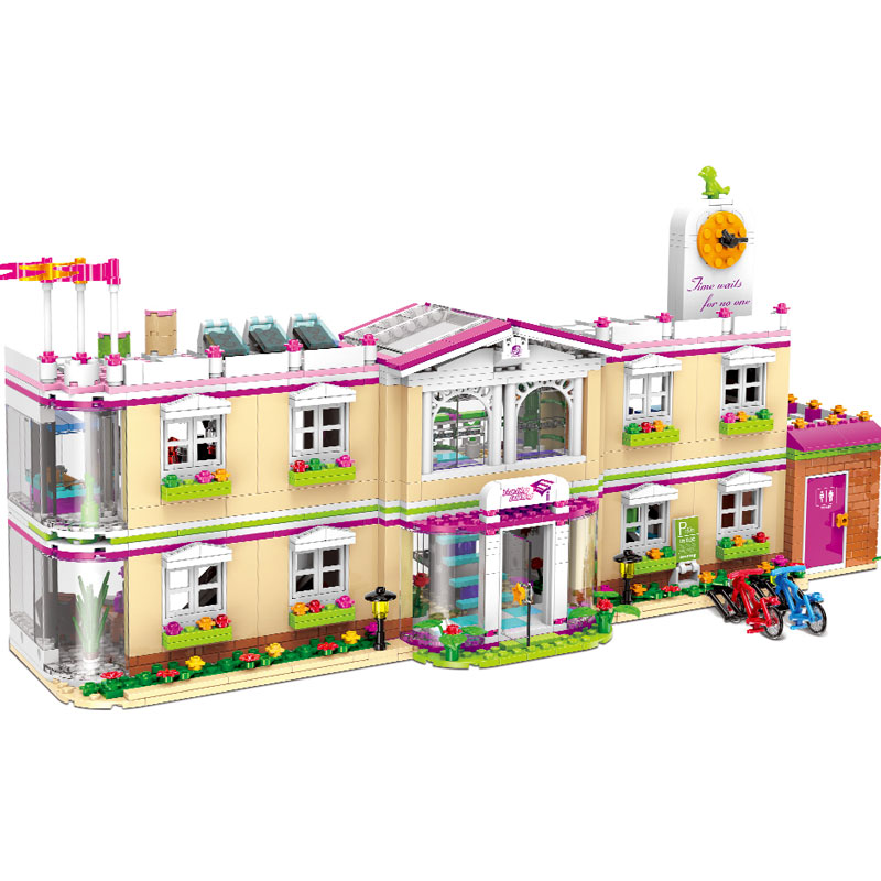 XINGBAO 12001 New City Girl Series The Happy Teaching Building Set Building Blocks Bricks Funny legoingly Toys For Kids As Gifts xingbao 12005 402pcs school bus model sets city girl series legoinglys building nano blocks bricks funny toys for kids