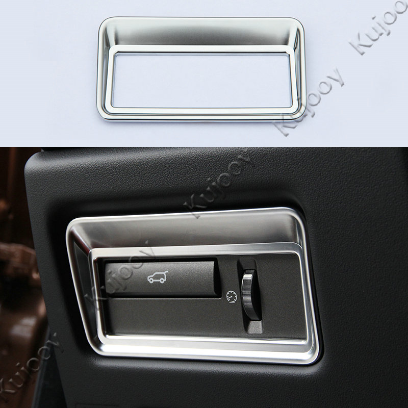1Pcs Chrome Silver font b Car b font font b Interior b font Taildoor Button Trim