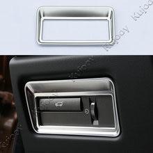 1 шт. Серебристый Хром салона taildoor Кнопка накладка Стикеры для Land Rover Range Rover Evoque 2012-2017 автомобильный дизайн ABS