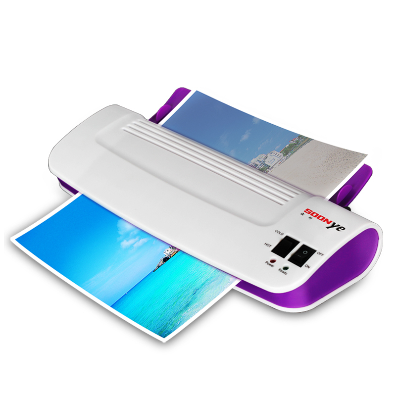 A4 Photo Laminator Professional Office Hot & Cold Thermal Laminating Machine For Document Photo PET Films Roll Laminator cewaal cla402 a4 document photo hot