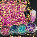 1g Bright Shine 3D New Slice Paillettes Sparkly Nail Art Decorations DIY Manicure Mermaid Chameleon 4 Laser Colors Glitter ND297