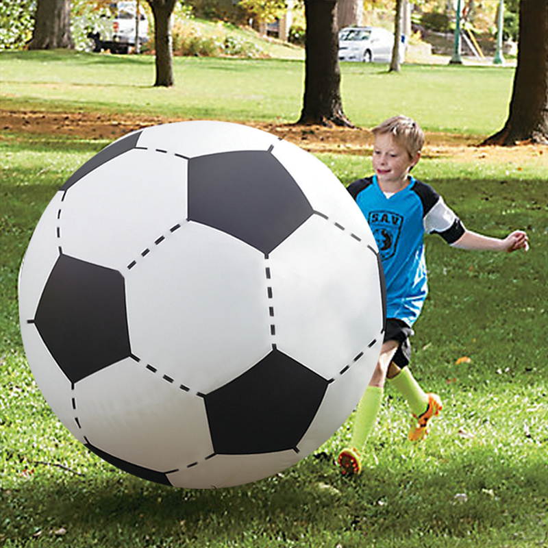 60cm/75cm/107cm/150cm Giant Inflatable Beach Ball <font><b>For</b></font> Adult <font><b>Children</b></font> <font><b>Water</b></font> Balloons Volleyball Football Outdoor Party Kids <font><b>Toys</b></font> image