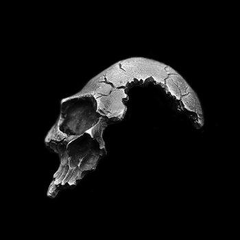 Broken Damaged Half Face Skull Pendant Necklace Men's Fashion Biker Rock Punk Jewelry 2