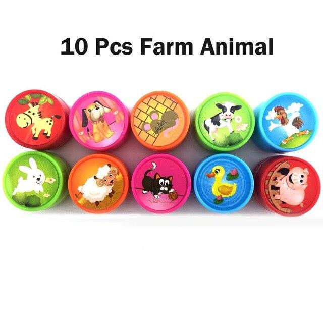 10pcs  Farm animals