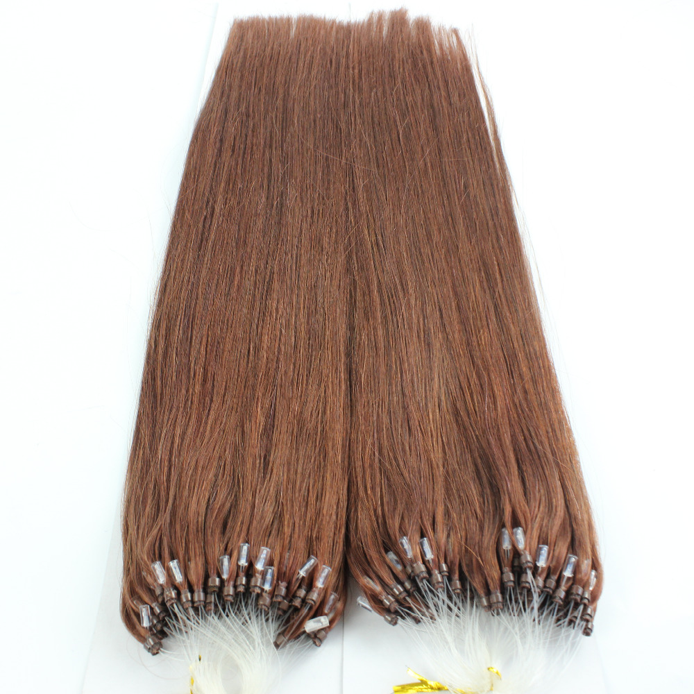 Hair extension picture more detailed picture about 1g micro loop 1g micro loop hair extensions 100 brazilian virgin hair 33 auburn straight micro bead pmusecretfo Image collections