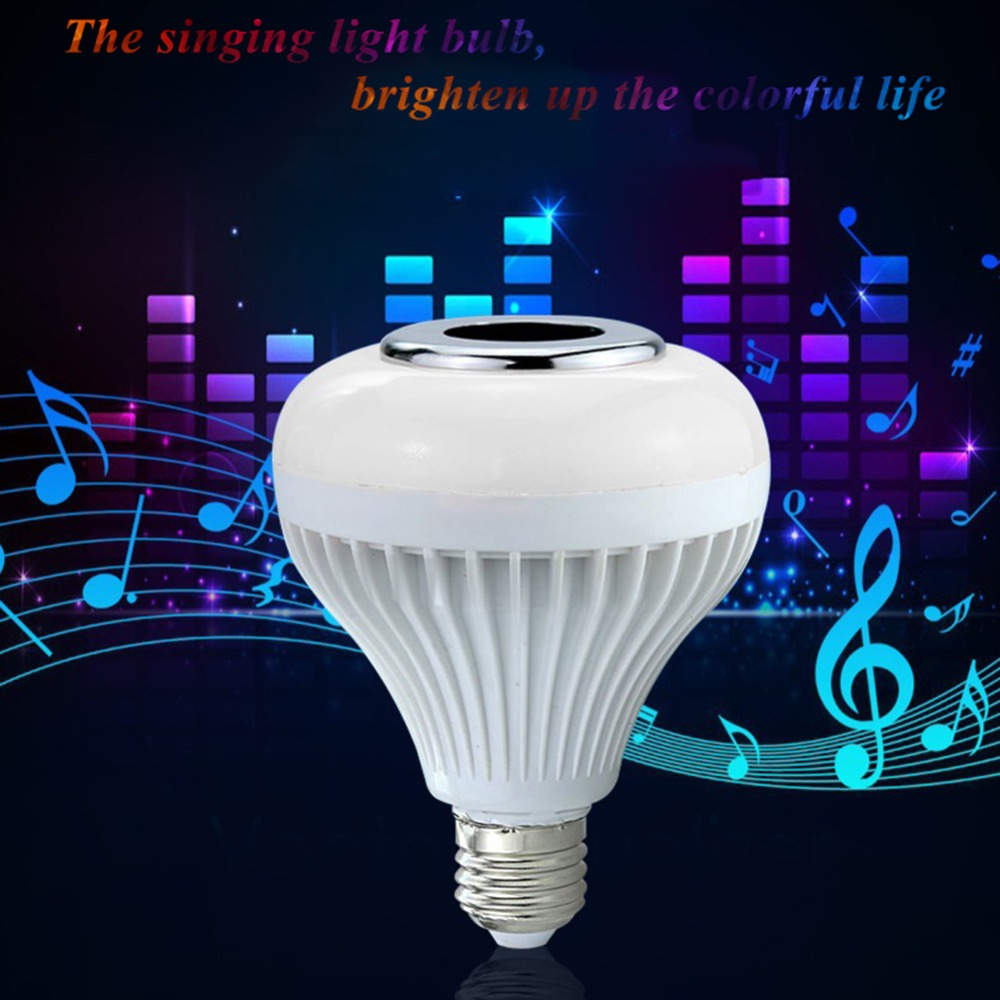 Light Bulb Speaker Colorful Blue Tooth + Remote Control + White Light Function Novelty Lighting