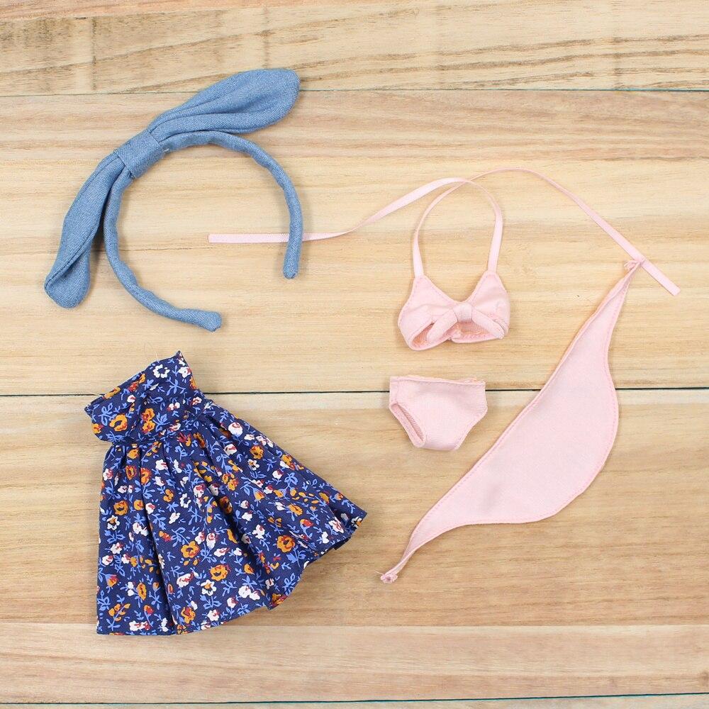 Factory Blyth Doll Bjd Doll Icy Summer Suit Headdress Swimming Dress