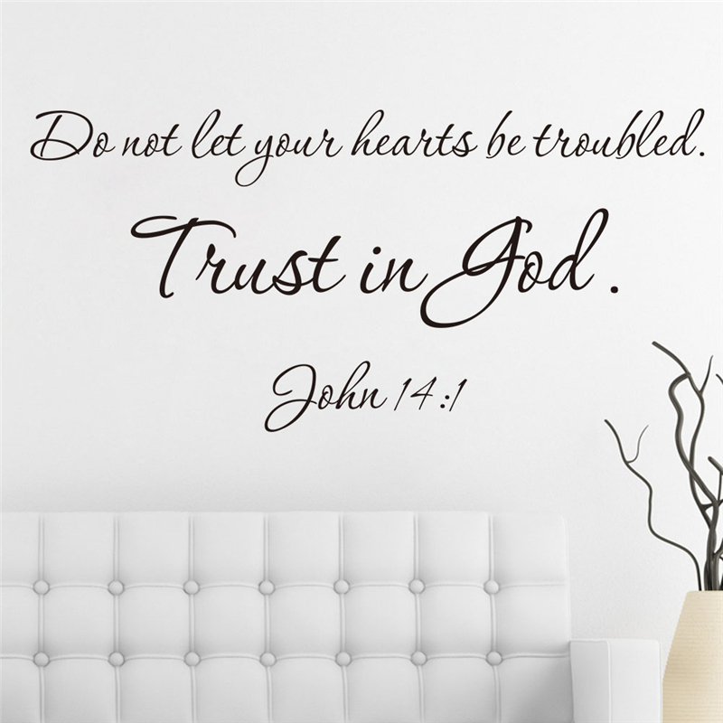 Christ Bible Trust In God Quotes Vinyl Wall Art Decals For Living Fascinating Trust In God Quotes