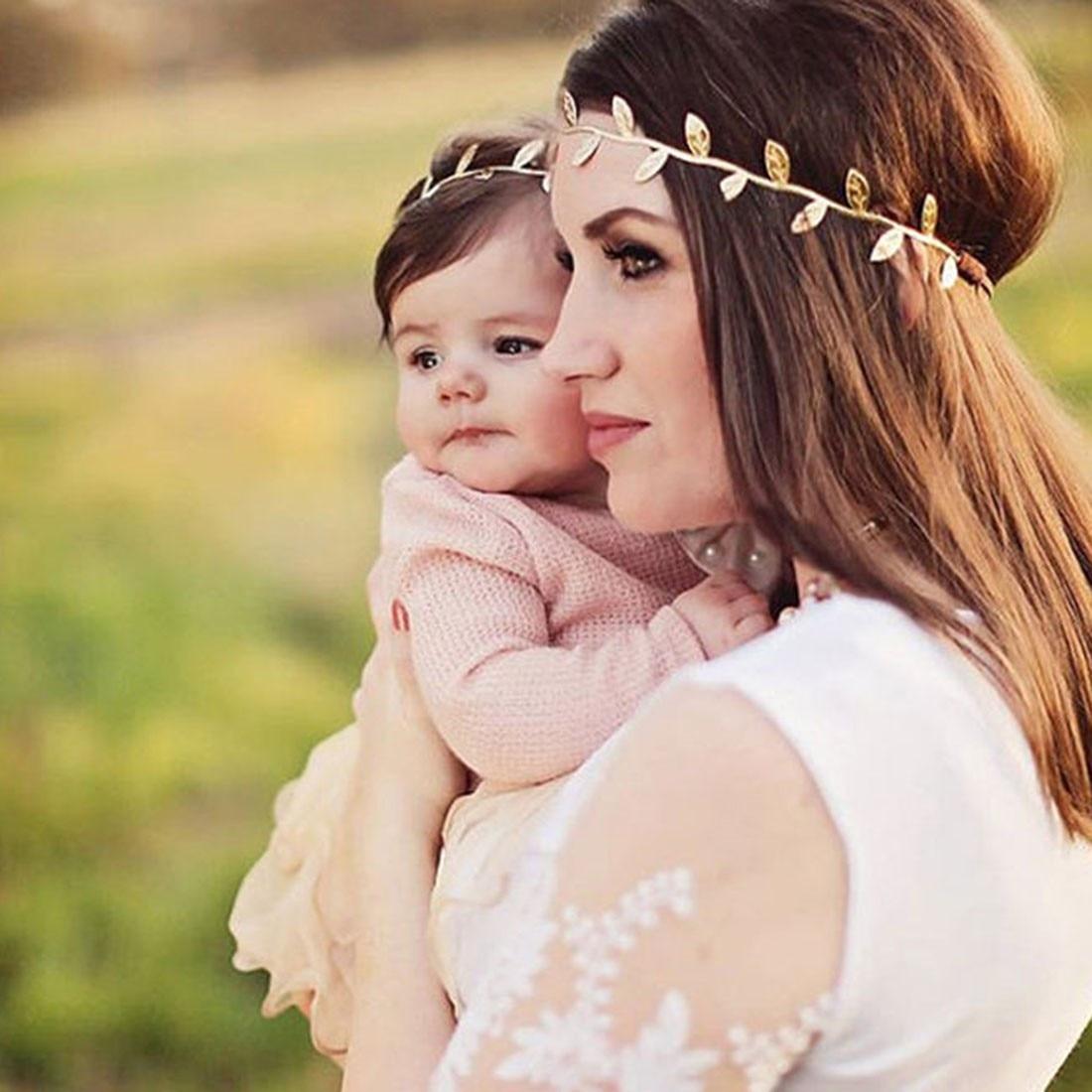 1 piezas nuevo oro hoja de plata conjunto de diadema para el pelo  accesorios rama de olivo chicas lindo deja diadema pelo para las mujeres  aro en Las ... b859d8d178cb