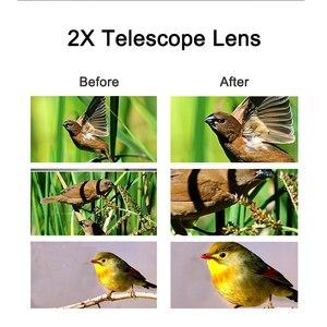 Image 4 - HD 2X Teleconverter Telescope Lens 65mm Telephoto Zoom Phone Camera Lens For Huawei p20 lite nova 3 All Smartphone