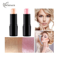 NICEFACE Face Waterproof Shimmer Highlighter Stick Bronzers Highlighter Powder Creamy Texture Silver Gold Light Face Make up