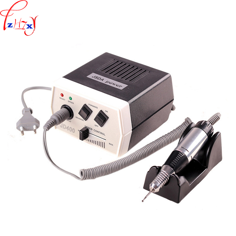 110/220V 35W 1PC Hand-held electric nail polishing machine JD400 portable nail polish remover surface polishing tools 1pc white or green polishing paste wax polishing compounds for high lustre finishing on steels hard metals durale quality
