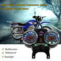 Мотоцикл Подсветка Пробег Цифровой Спидометр Тахометр шаблон для Honda Suzuki HAOJIANG