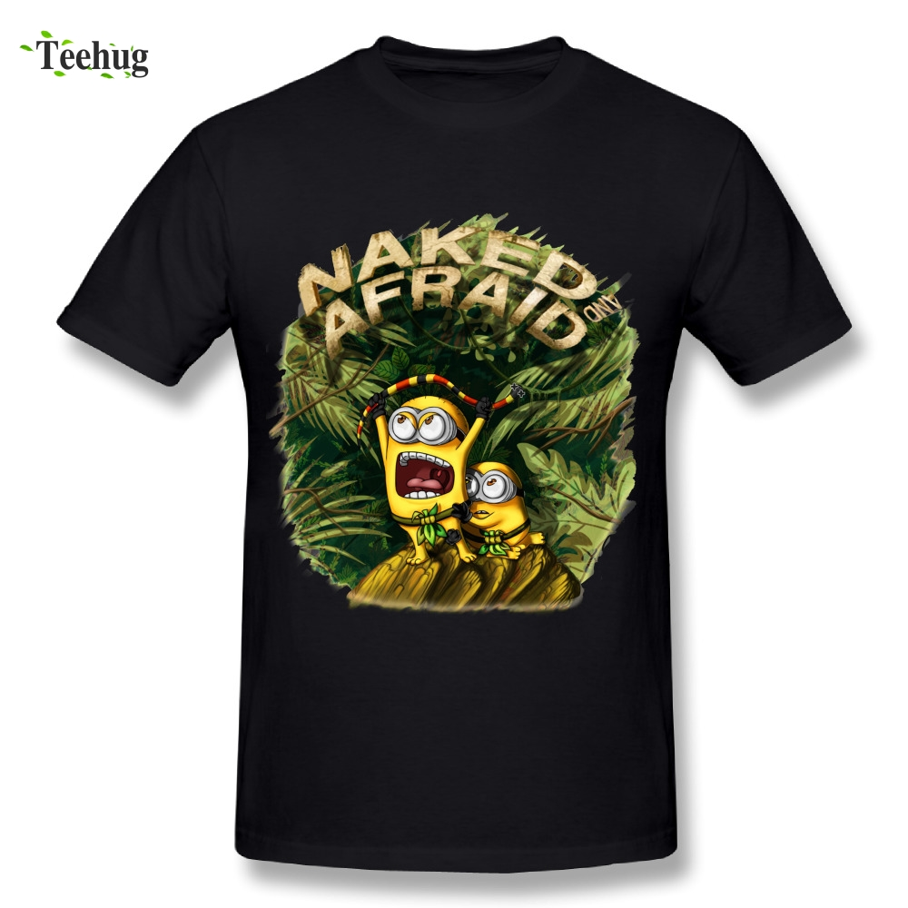3D Print Mens Naked And Afraid Minions T Shirt 100 -6686