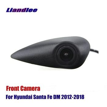 цена на AUTO Front View Camera For Hyundai Santa Fe DM 2012-2020 Car Front Camera Sets HD CCD SONY CAM - Not Reverse Rear Parking Camera