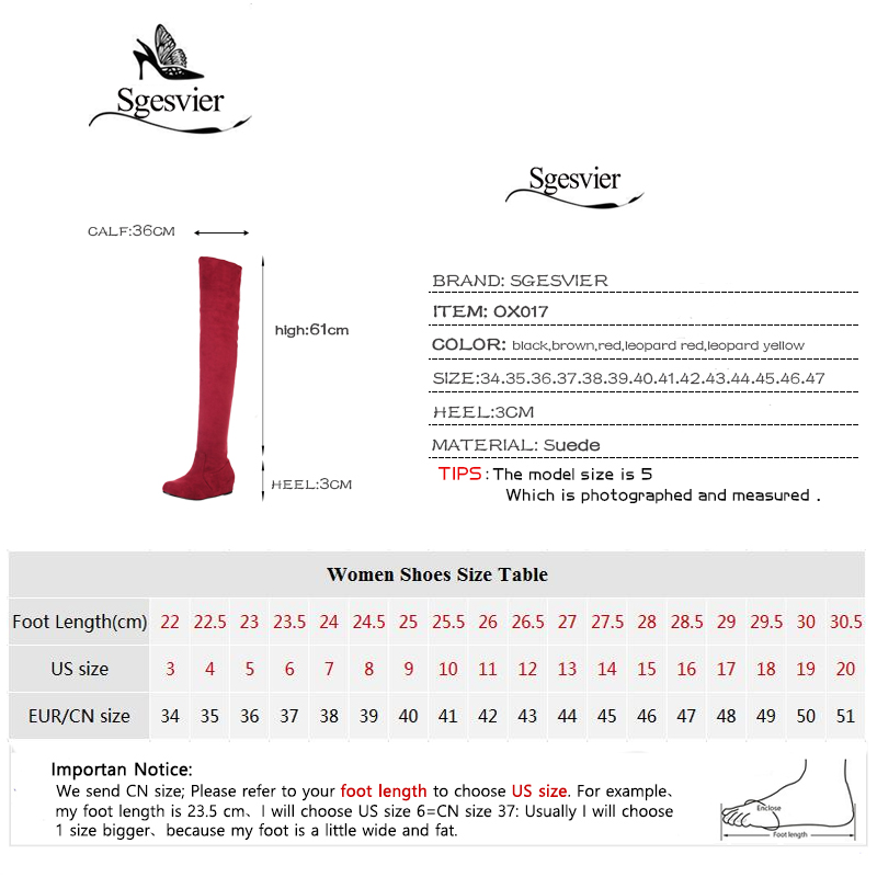 SGESVIER Women Boots Winter Autumn Fashion Flat Bottom Boots Shoes Over The Knee  High Leg Suede Long Boots Brand Designer OX017 d7418d077298