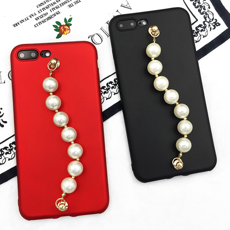 LOVECOM-New-Shining-Candy-Color-DIY-Luxury-Bling-Glitter-Pearl-Chain-For-iphone-6-6S-Plus