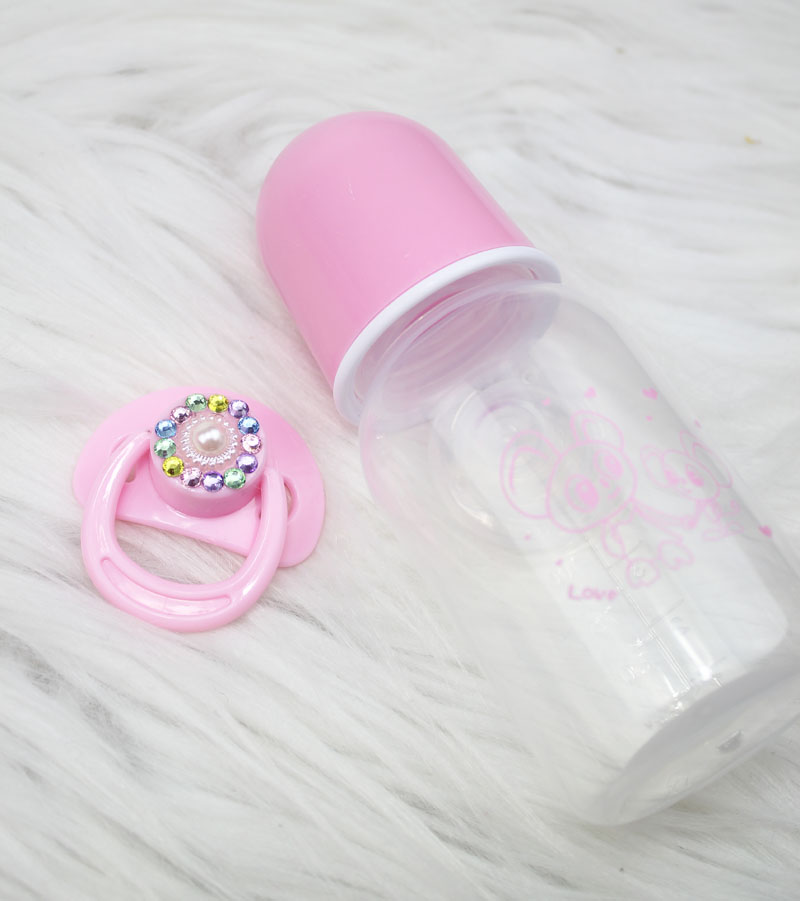 Pink White Magnetic Pacifier Shining Nipple For Reborn Baby Doll Pacifier and Bottle Set For Newborn Babies Doll Toy Accessories спортивный инвентарь original fittools эспандер в защитном кожухе слабое сопротивление