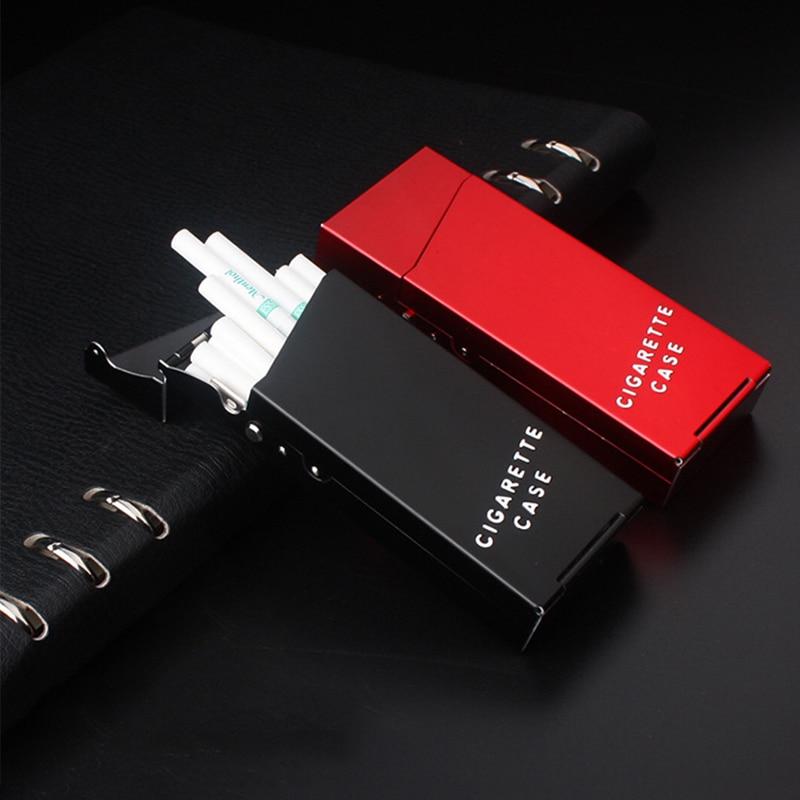 Narrow Fashion Pipe Personality Women Cigaret Slim Metal Cass