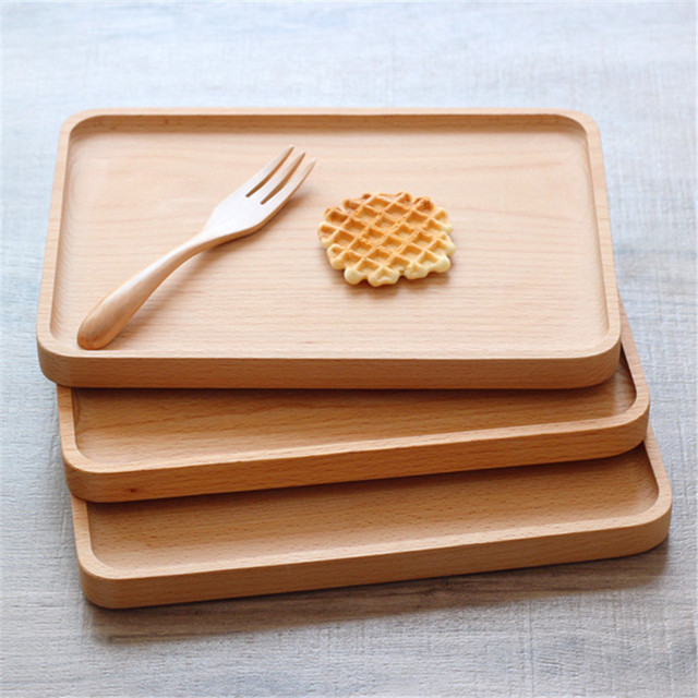 Charmant Rectangle Wood Kitchen Dessert Plate Quality Tea Tray Western Food Baking  Bread Tray Wooden Solid Pastry