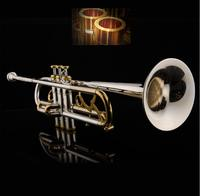 JAZZOR Trumpet New Gold and Siler Two Color Professional trumpet JZTR 800 B flat Trumpet