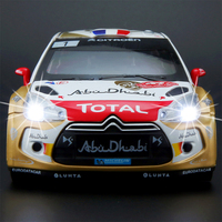 DS3 Rally Car Alloy Model Cars Acousto optic Static Model Toy for Children Gifts
