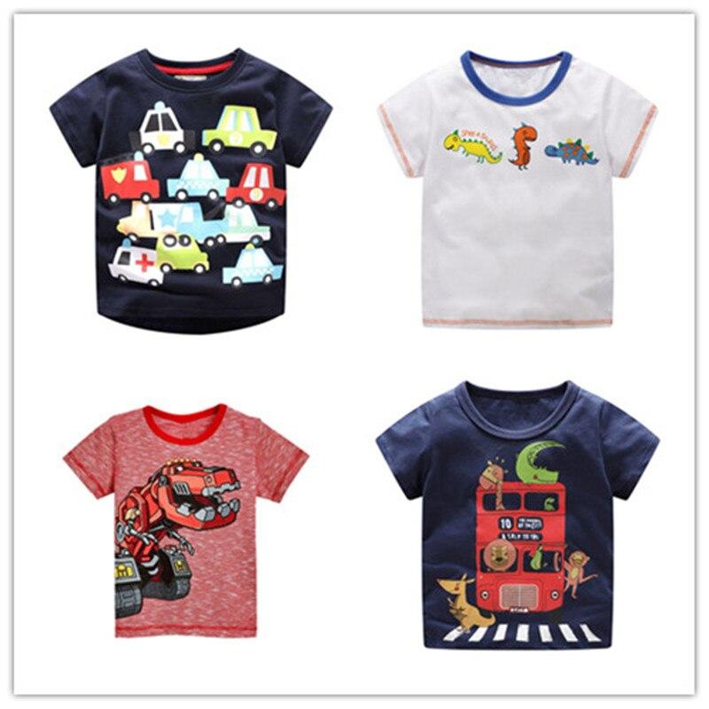 Dinosaur T-Shirts Tees Tops Clothing Short-Sleeve Fashion Cotton Children New Summer