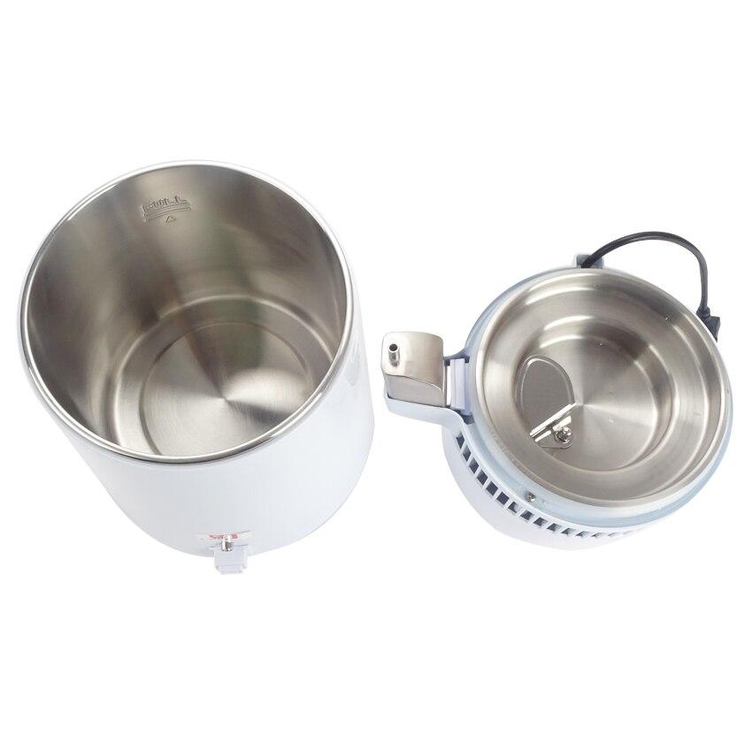 Melhor casa destilador de água pura máquina de filtro de destilação equipamento purificador de água de aço inoxidável destilador 4l - 5