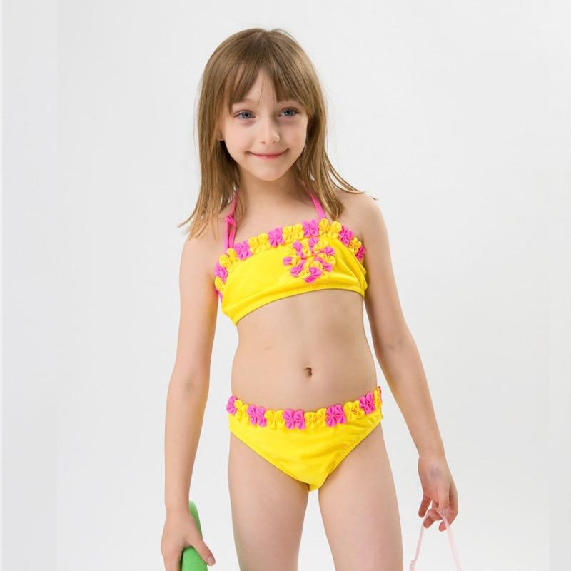 Hiheart 2015 Summer Girls Swimwear 3D Floral Girl Swimsuit -5456