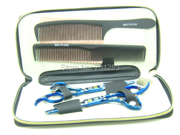 5.5 Inch 6.0 Inch Sakura Blue Professional Barbers Hair Scissors Kits JP440C Salon Hair Cutting Shears Thinning Tijeras  LZS0096
