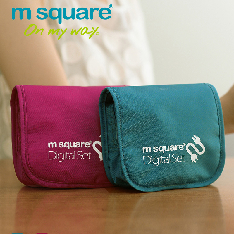 M Square Travel Stroage Tas voor Power Bank Kabelopslag Organizer Accessaries Opbergvak