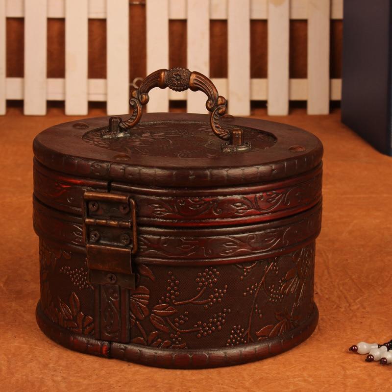2pcs Chic Wooden Pirate Jewellery Storage Box Desktop Decorative Trinket  Jewelry Cases Round Vintage Treasure Chest Organizer In Storage Boxes U0026 Bins  From ...