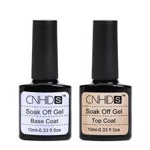 CNHIDS 2 шт./лот Гель-лак для ногтей гель для ногтей без очистки верхнее покрытие Топ офф+ Базовое покрытие основа для УФ-гель-лака отмачиваемый УФ-гель