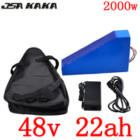 48V battery pack 48v 22ah electric bicycle battery 48V 22AH lithium ion battery for 48V 1000W 1500W 2000W ebike motor free duty
