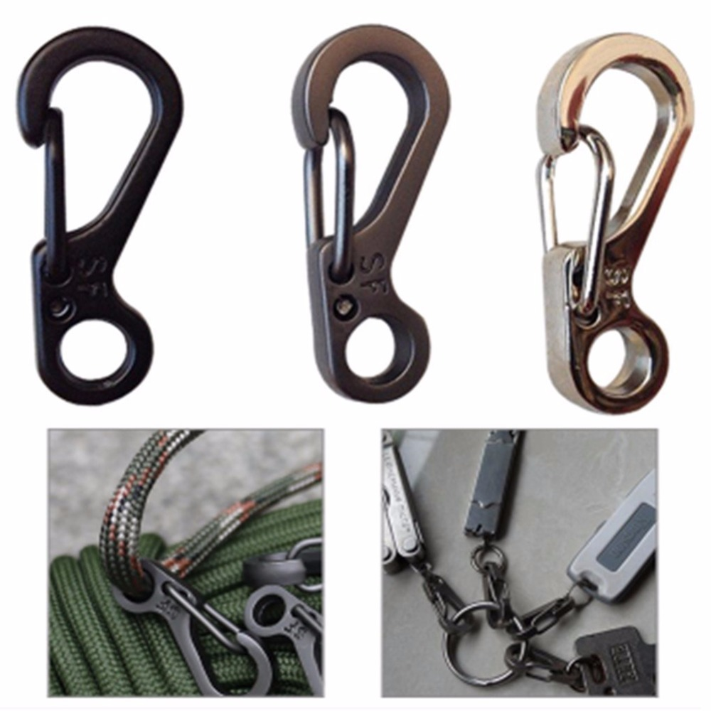 все цены на 10 Pcs Paracord Carabiner Camping Equipment Survival EDC Snap Spring Clip Outdoor Hiking Hook Backpack Tactical Buckle Camp Kit онлайн
