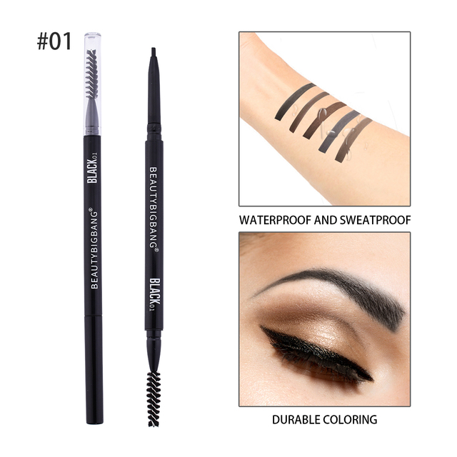 BEAUTYBIGBANG Long Lasting  Eye Brow Tint  Natural Paint Tattoo Super Slim Eyebrow Dual Ended Waterproof Eyebrow Pencil Makeup 5